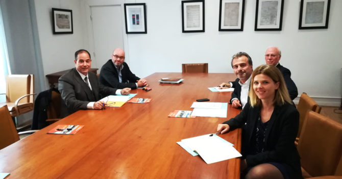 Rencontre avec le pr sident de la chambre de commerce et d for Chambre de commerce italienne marseille