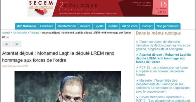 Attentat Déjoué : Mohamed Laqhila Député LREM Rend Hommage Aux Forces De L'ordre