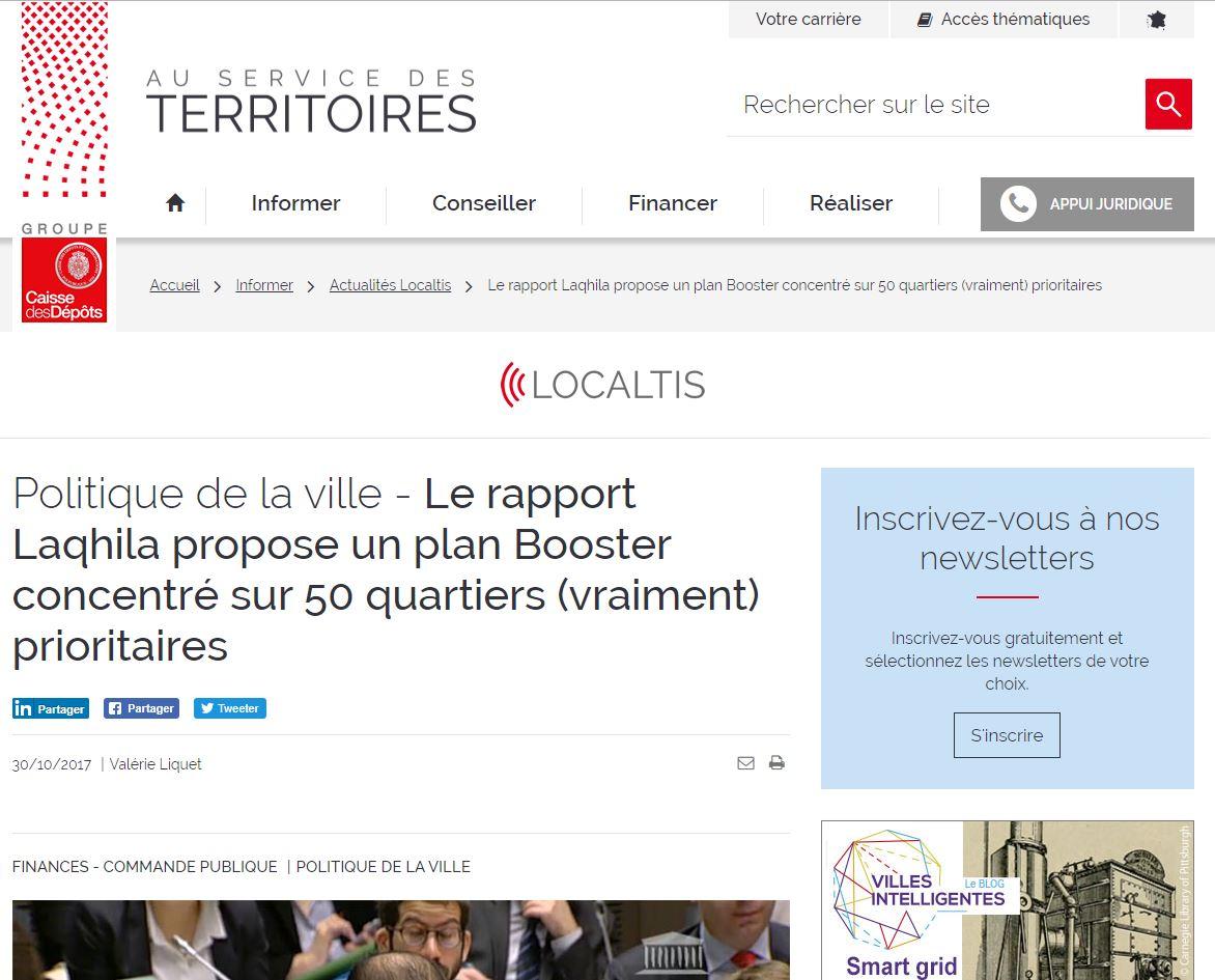 Politique De La Ville – Le Rapport LAQHILA Propose Un Plan Booster Concentré Sur 50 Quartiers (vraiment) Prioritaires