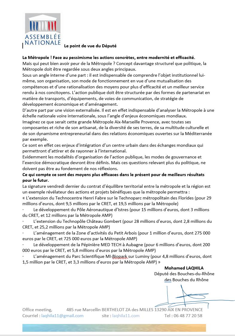Communiqué De Presse Sur La Métropole