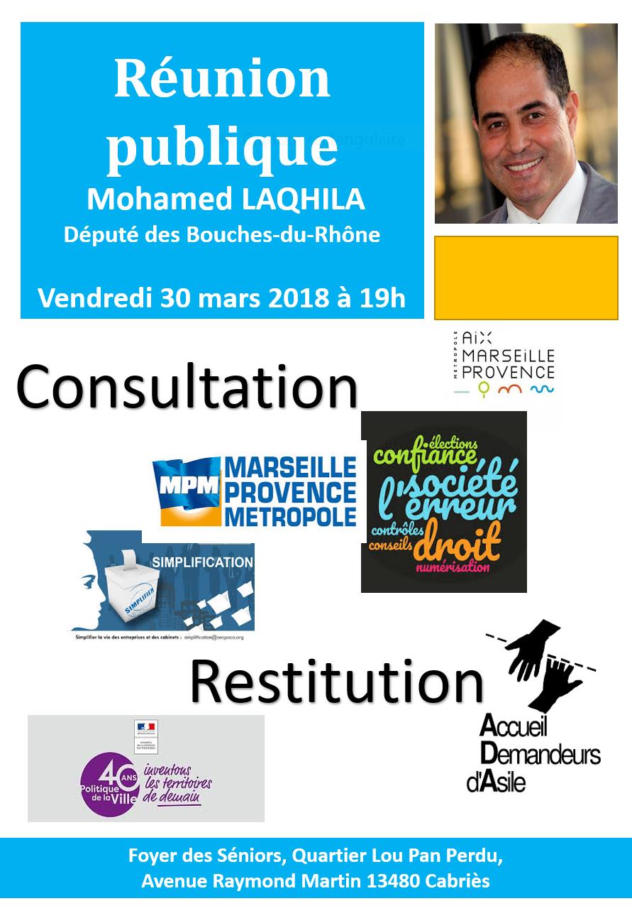 Réunion Publique à Cabriès Le 30 Mars 2018