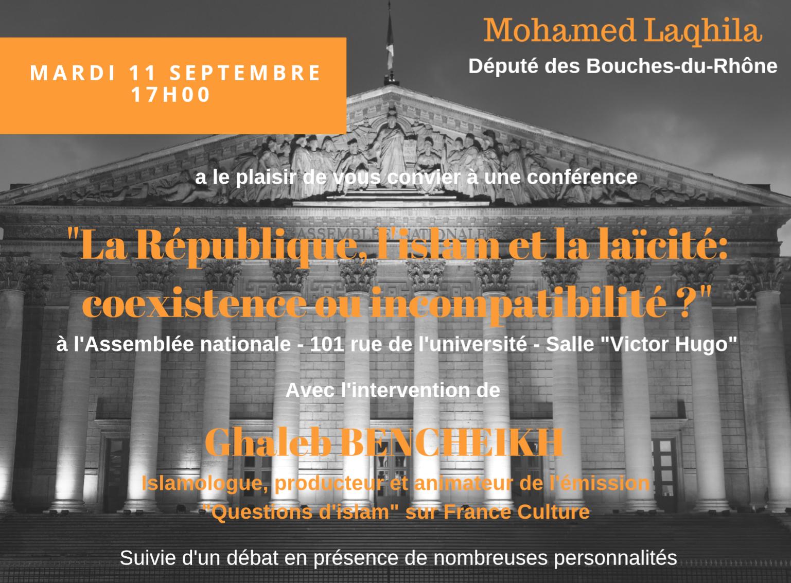 Conférence : «La République, L'Islam Et La Laïcité: Coexistence Ou In Compatibilité»