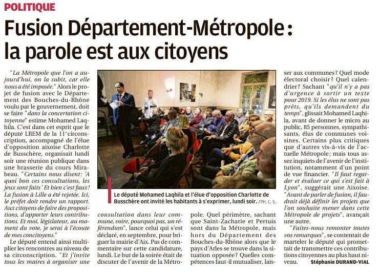 Consultation Citoyenne Autour De L'avenir De La Métropole Et Du Département