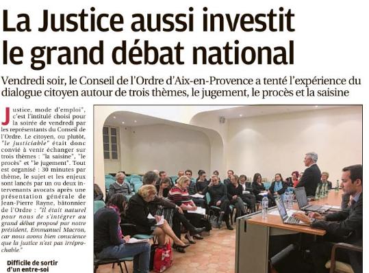 Grand Débat Du Conseil De L'Ordre D'Aix-en-Provence