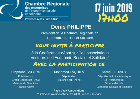 Conférence-débat «les Associations Vecteurs De L'ESS»