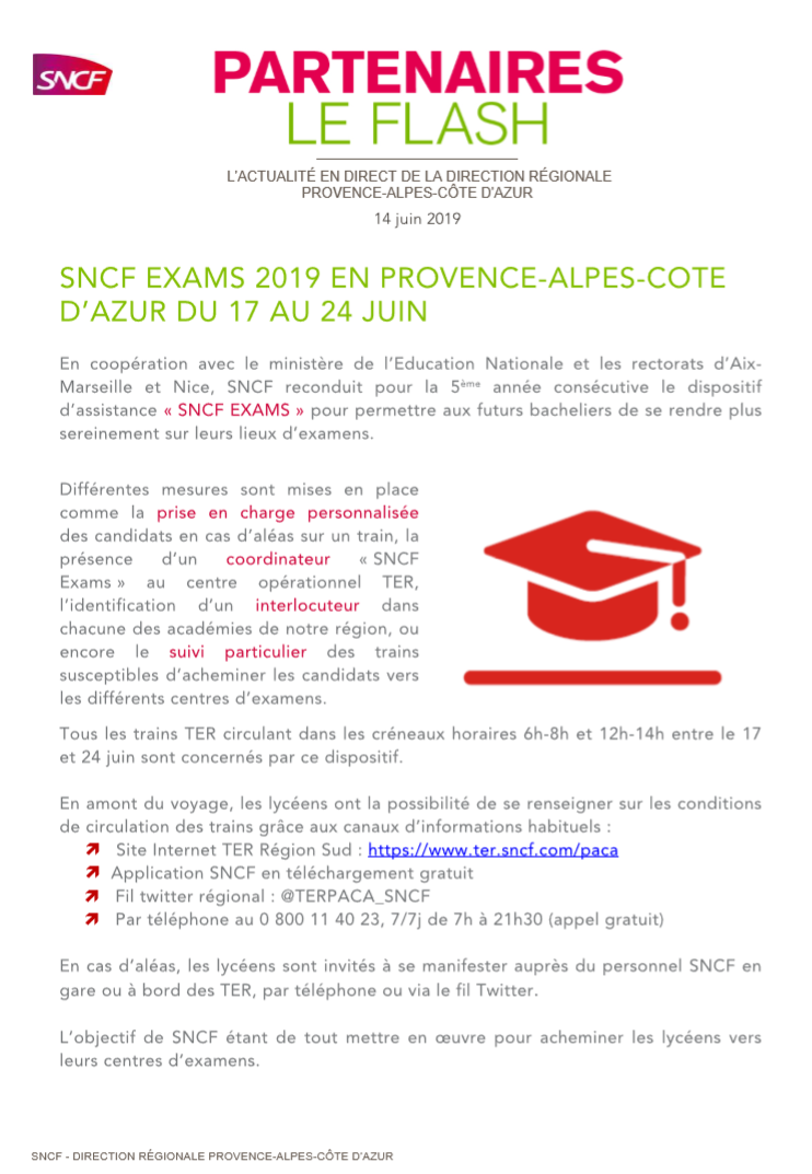 SNCF Exams