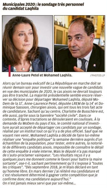 Mohamed Laqhila, Unique Challenger Face à Maryse Joissains