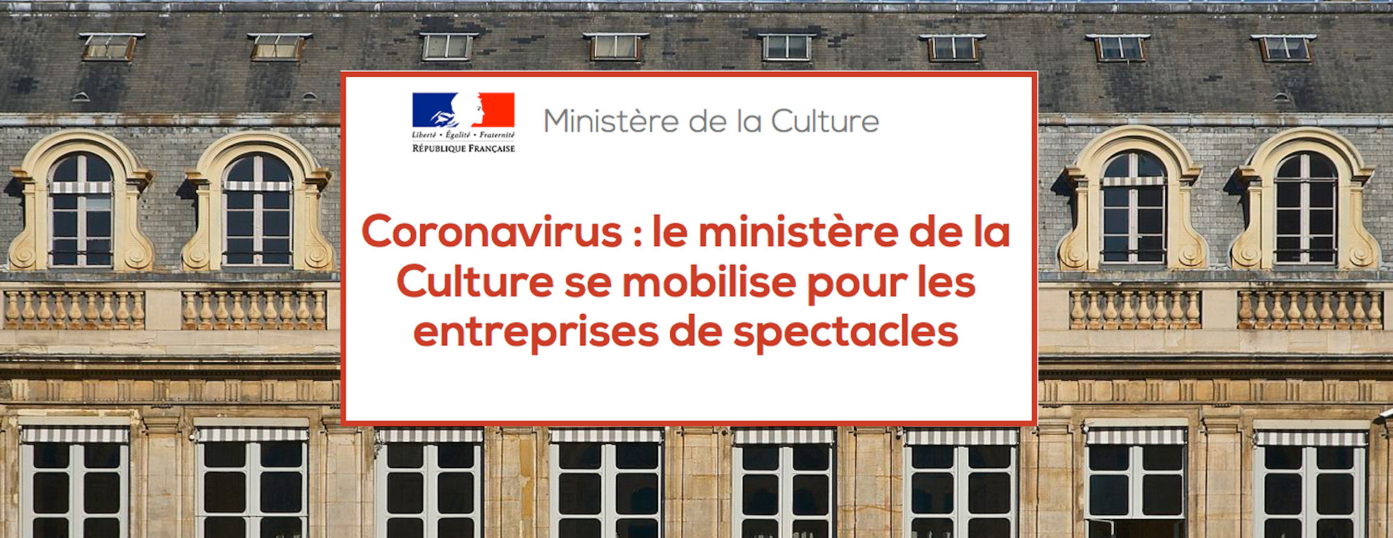 Mesures Relatives Au Secteur Culturel
