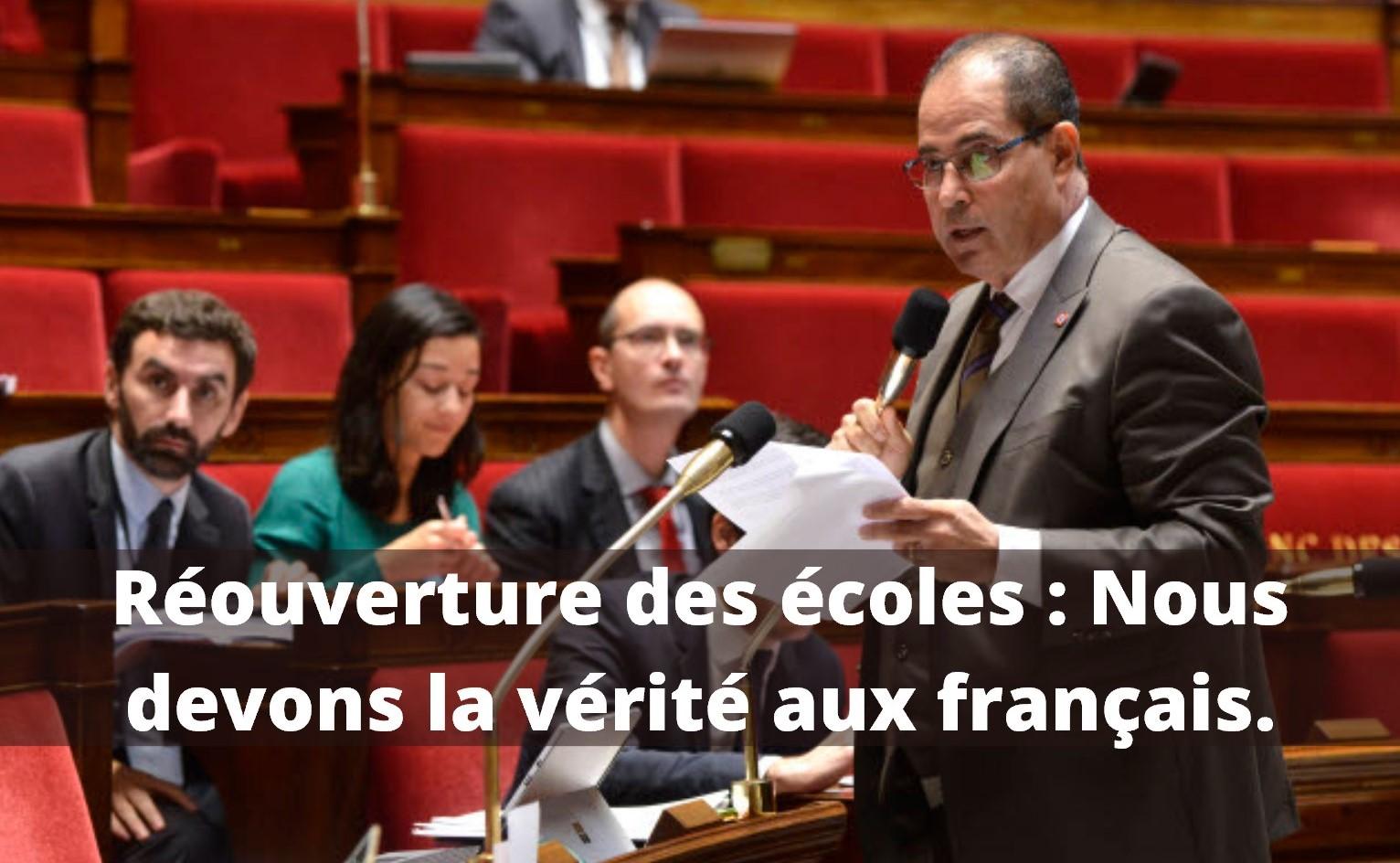 Réouverture Des écoles : De La Nécessaire Reprise économique, Nous Devons La Vérité Aux Français.